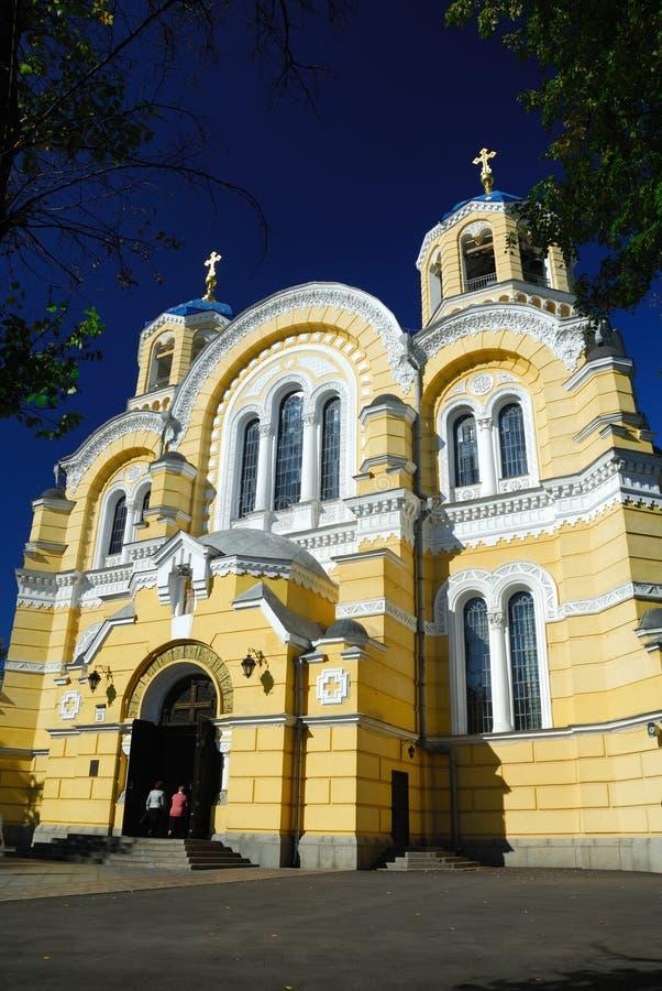 Catedral de Vlodimersky en Kiev fotografía de archivo
