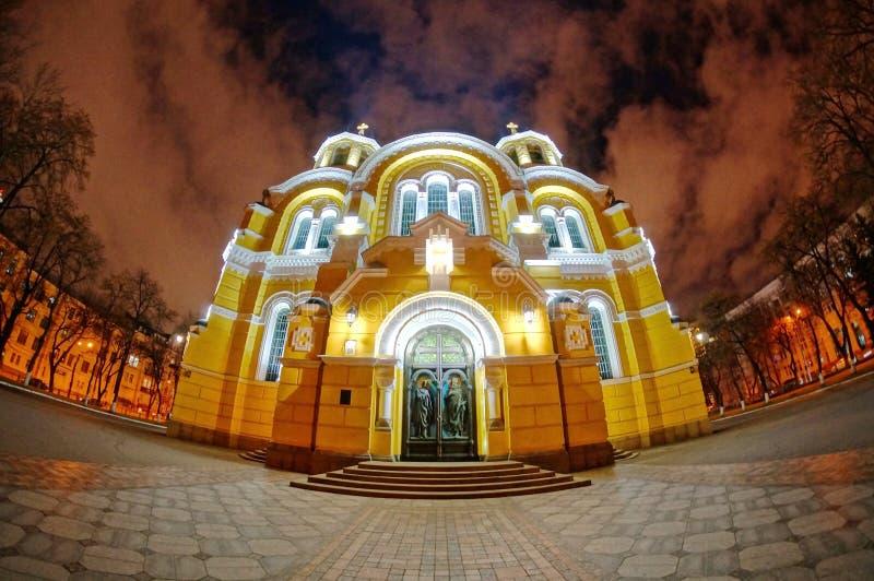 A catedral de Volorymir em Kiev ucrânia imagens de stock royalty free