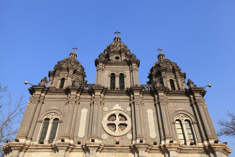 Catedral de Wangfujing fotografia de stock