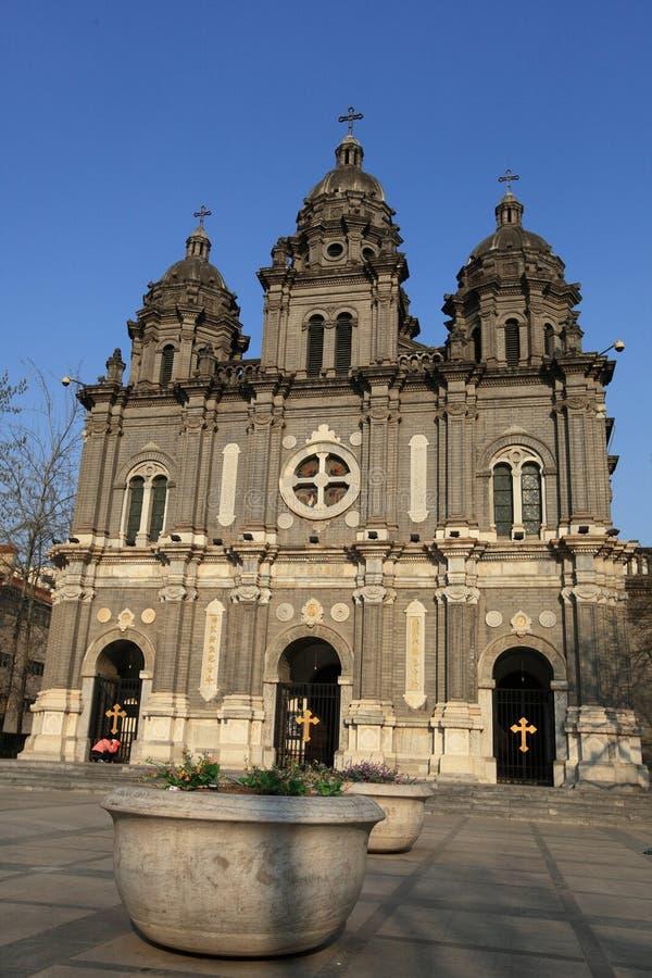 Catedral de Wangfujing foto de stock royalty free