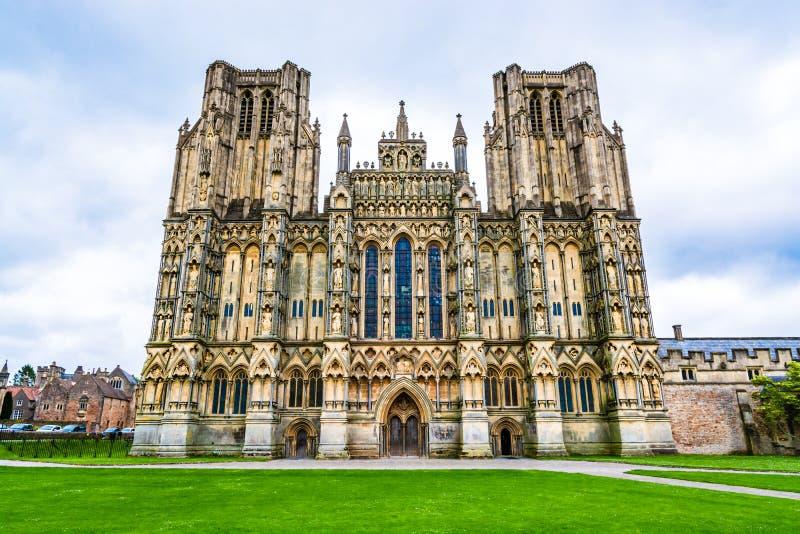 Catedral de Wells em Somerset, Inglaterra, Reino Unido imagem de stock