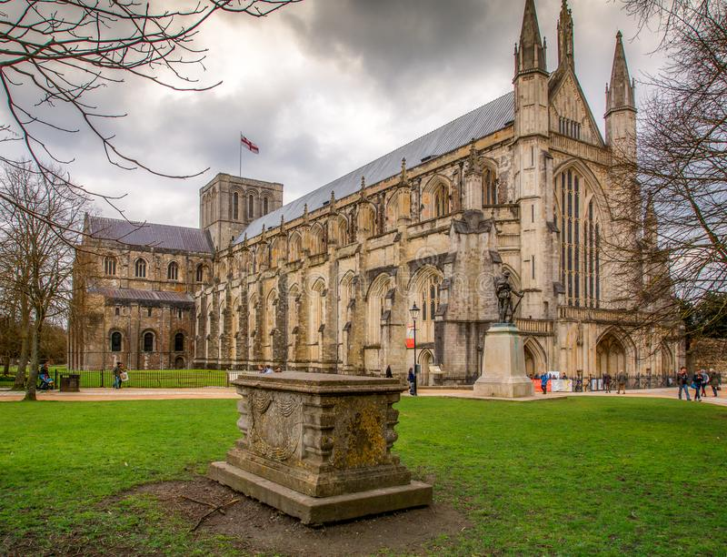 Catedral de Winchester imagem de stock