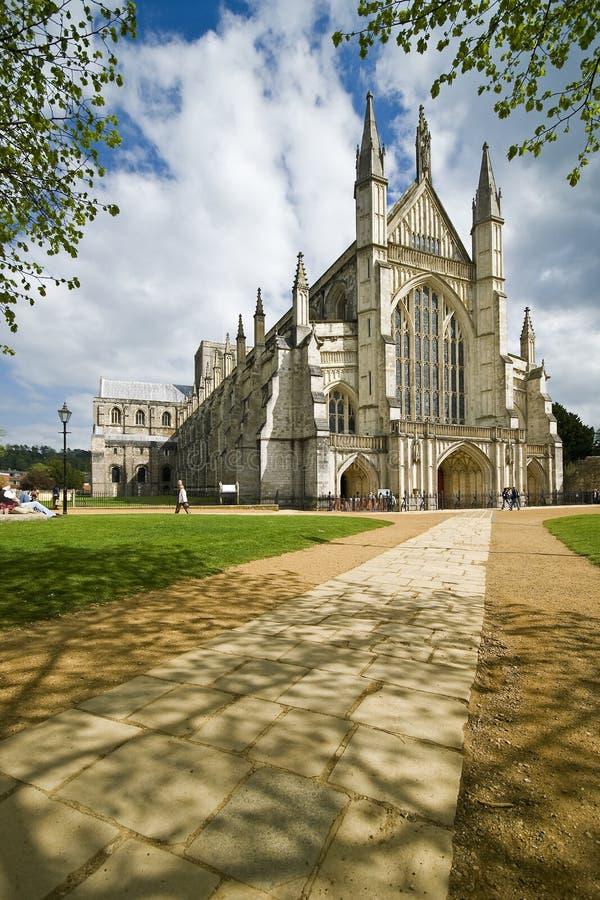 Catedral de Winchester fotos de stock royalty free