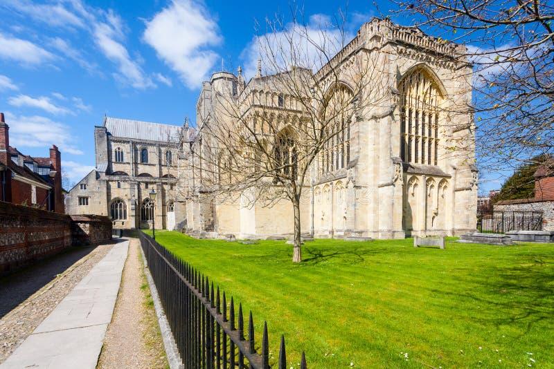 Catedral de Winchester fotos de stock