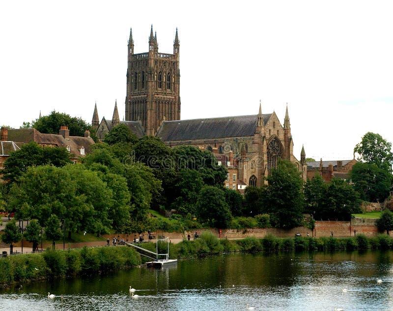 Catedral de Worcester imagen de archivo libre de regalías