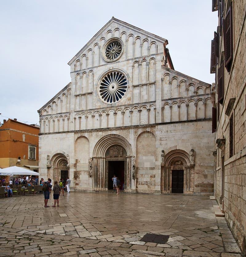 Catedral de Zadar foto de stock royalty free