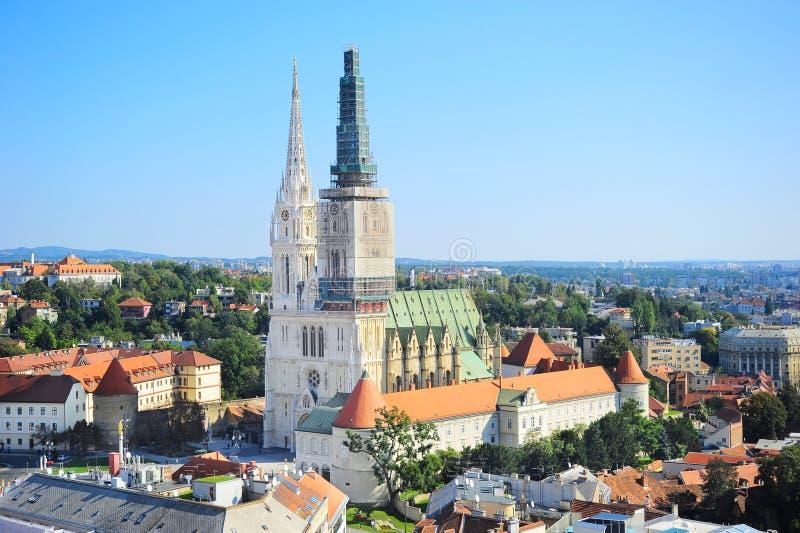 Catedral de Zagreb fotografia de stock