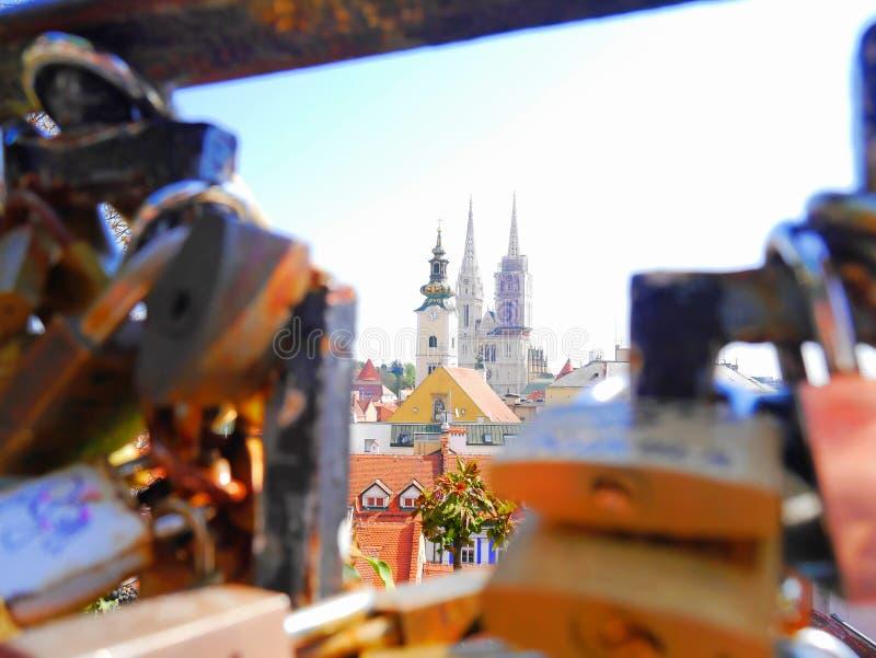 Catedral de Zagreb foto de archivo