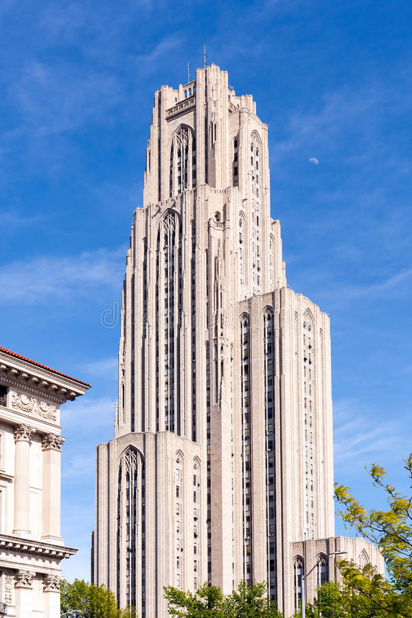 Catedral del aprendizaje en Pittsburgh imágenes de archivo libres de regalías