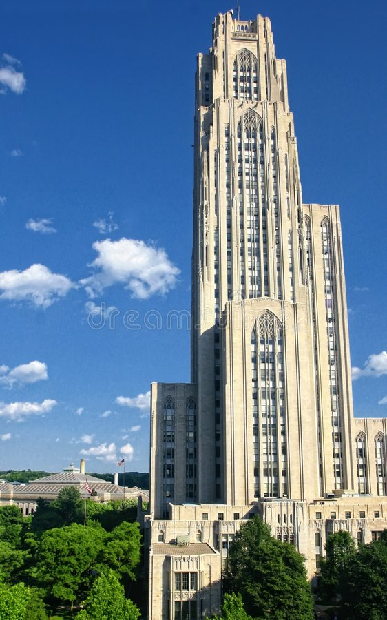 Catedral del aprendizaje, Pittsburgh, PA foto de archivo libre de regalías