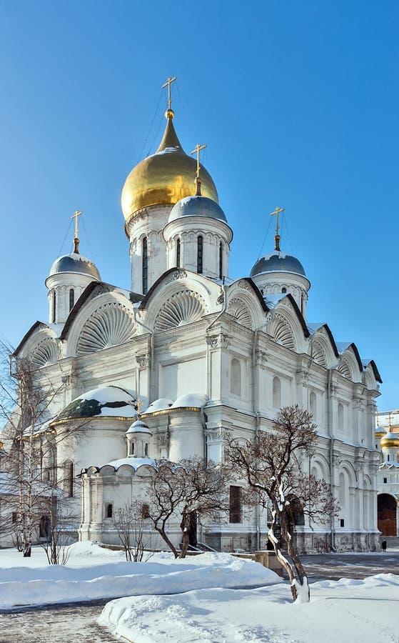 Catedral del arcángel, Moscú imagenes de archivo