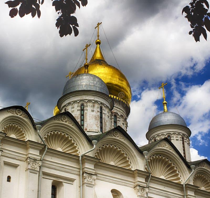 Catedral del arcángel Moscú el Kremlin fotografía de archivo