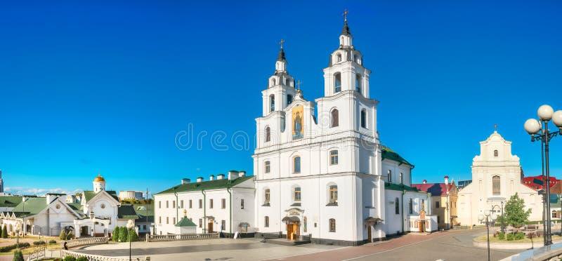 Catedral del Espíritu Santo en Minsk, principal iglesia ortodoxa en Bielorrusia imagenes de archivo