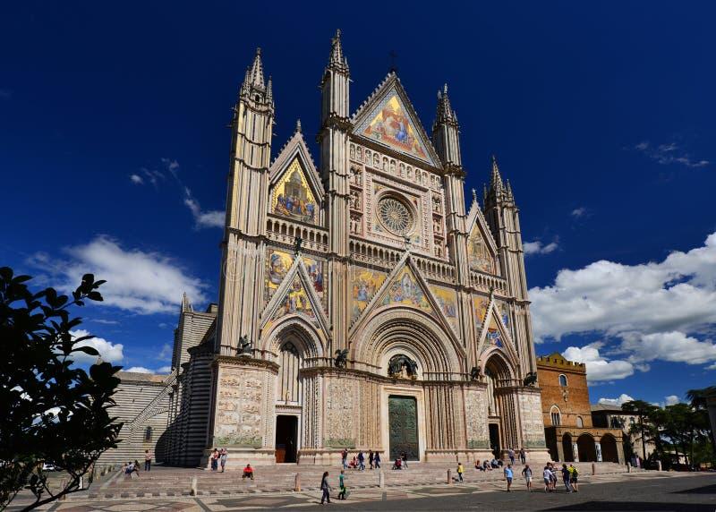Catedral del gothci de Orvieto imagen de archivo libre de regalías