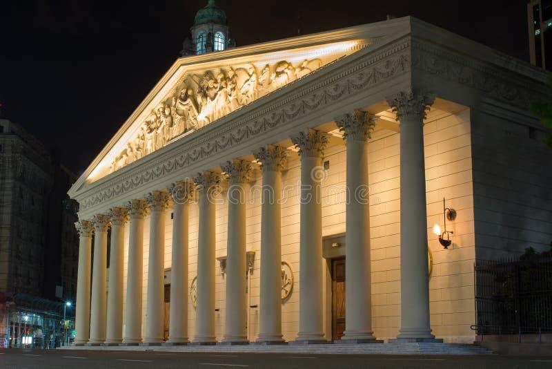 Catedral del metropolitano de Buenos Aires fotos de archivo libres de regalías