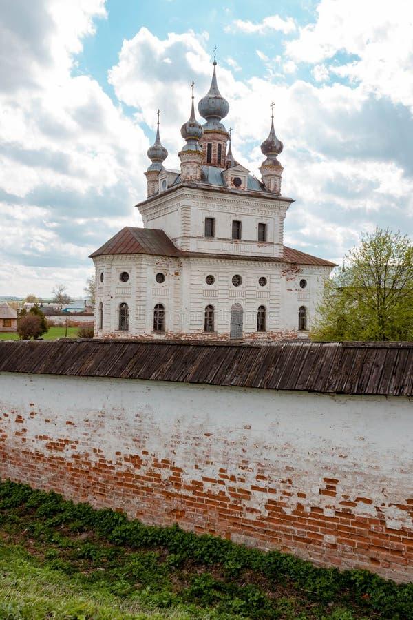 Catedral del monasterio de Michael Archangel en Yuryev-Polsky, Vladimir Region, Rusia fotografía de archivo