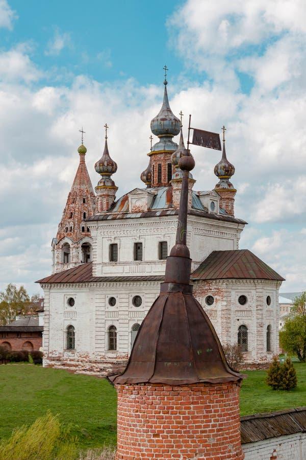 Catedral del monasterio de Michael Archangel en Yuryev-Polsky, Vladimir Region, Rusia fotografía de archivo libre de regalías