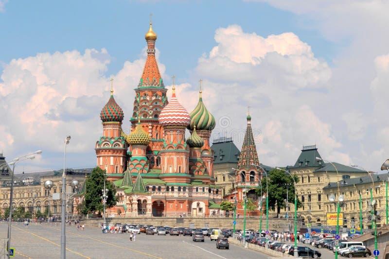 Catedral del ` s de la albahaca del santo, Mosc?, Rusia fotografía de archivo