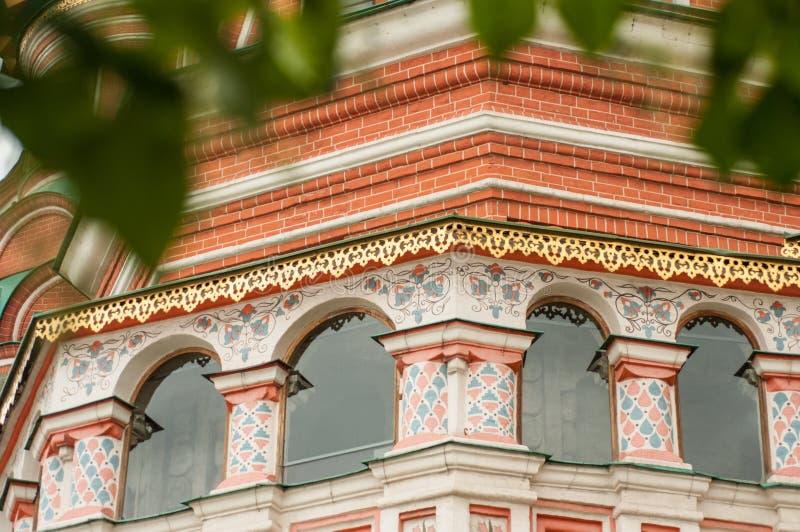 Catedral del ` s de la albahaca del St en la Plaza Roja de Moscú fotografía de archivo libre de regalías