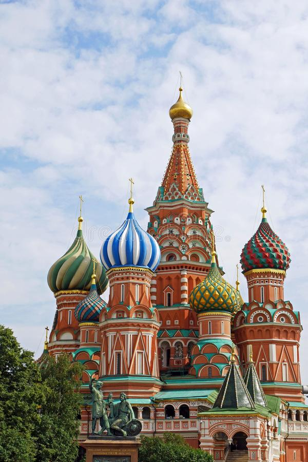 Catedral del ` s de la albahaca del St en la Plaza Roja, Moscú, Rusia foto de archivo