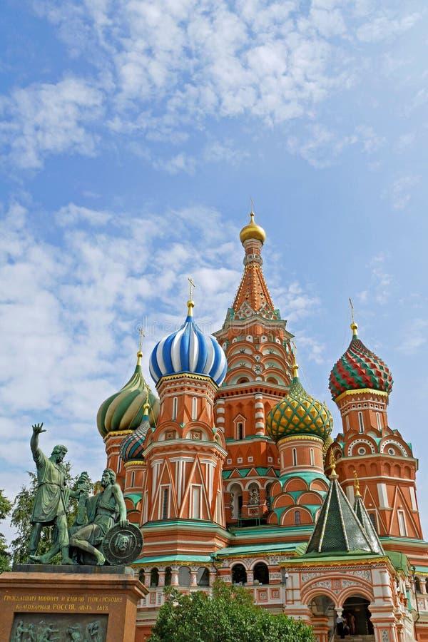 Catedral del ` s de la albahaca del St en la Plaza Roja, Moscú, Rusia imágenes de archivo libres de regalías