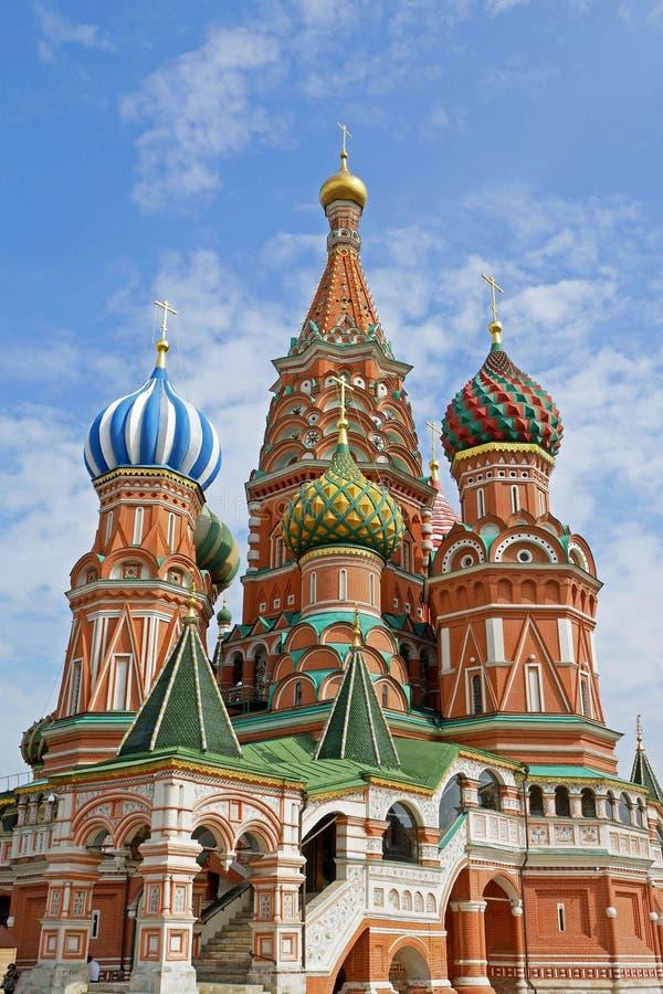 Catedral del ` s de la albahaca del St en la Plaza Roja, Moscú, Rusia fotos de archivo libres de regalías