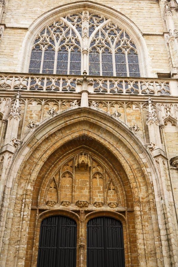 Catedral del ` s de Notre Dame du Sablon foto de archivo libre de regalías