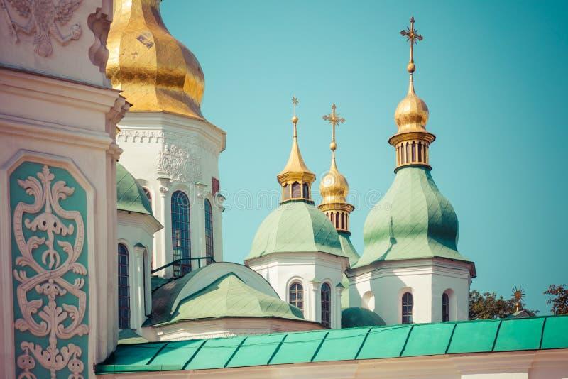 Catedral del ` s de Sophia del santo, Kyiv, Ucrania Uno del más viejo churc imagenes de archivo