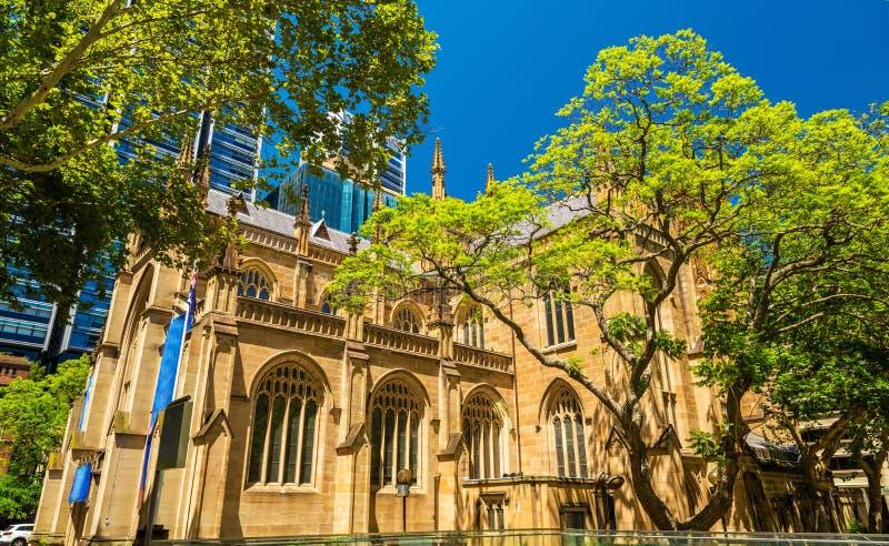 Catedral del ` s de St Andrew en Sydney, Australia fotografía de archivo libre de regalías