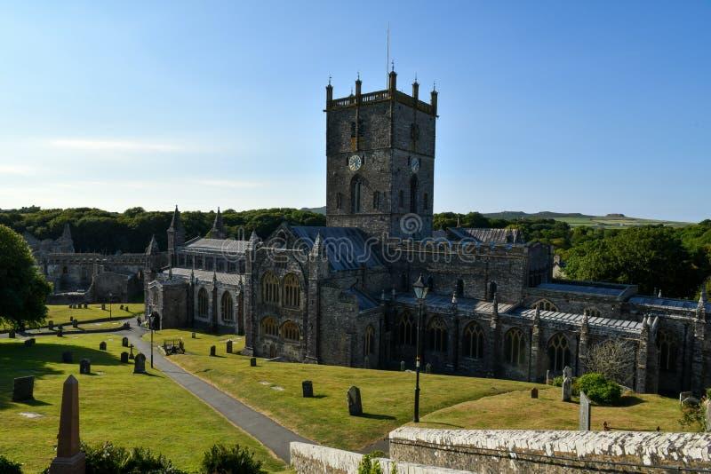 Catedral del ` s de St David imagen de archivo