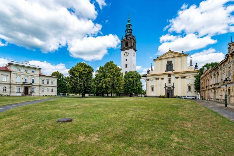 Catedral del ` s de St Stephen, cuadrado de la bóveda, Litomerice imagen de archivo libre de regalías