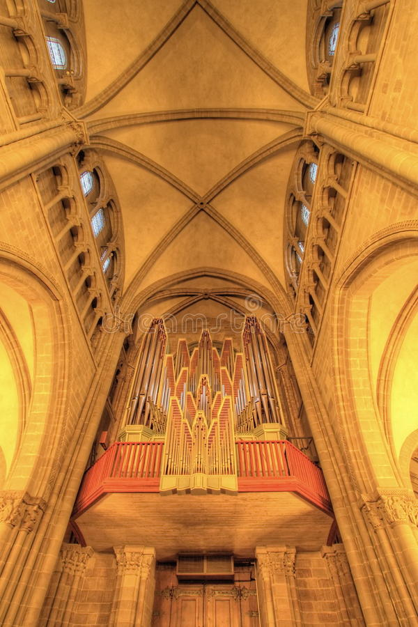 Catedral del Saint Pierre, Ginebra, Suiza (HDR) imagen de archivo