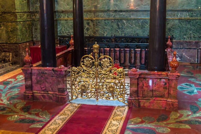 Catedral del salvador en la sangre Spilled, St Petersburg, Rusia Visi?n interior imagen de archivo libre de regalías