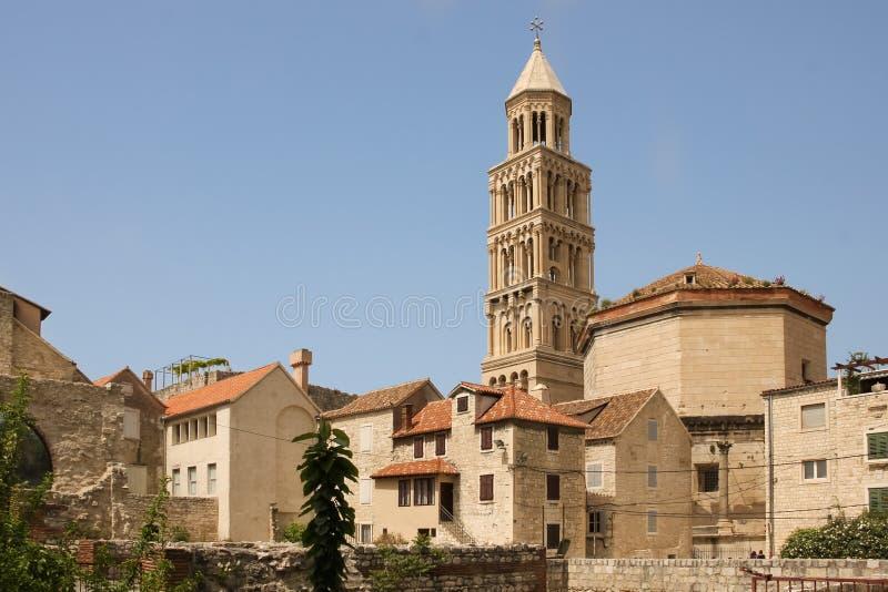 Catedral del santo Domnius fractura Croacia imagen de archivo libre de regalías