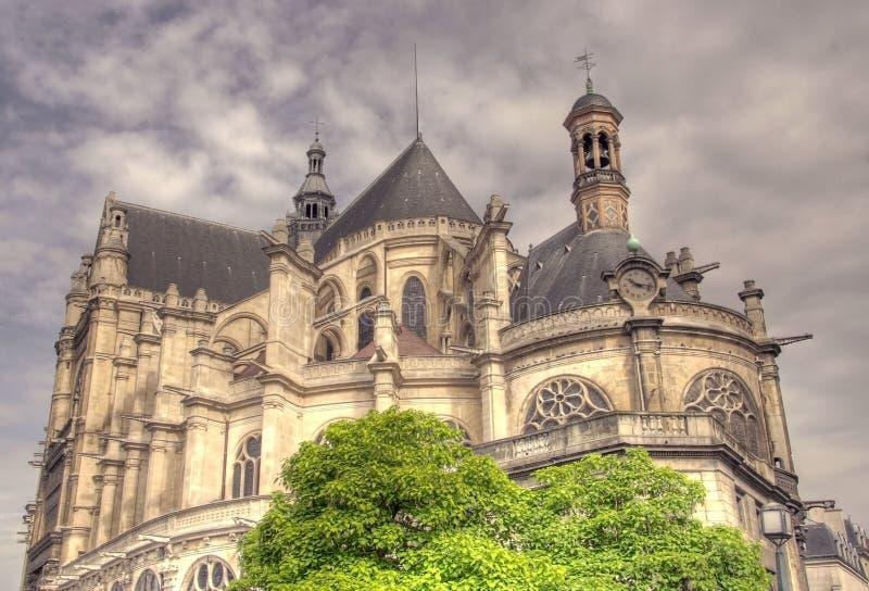 Catedral del Santo-Eustache imagen de archivo