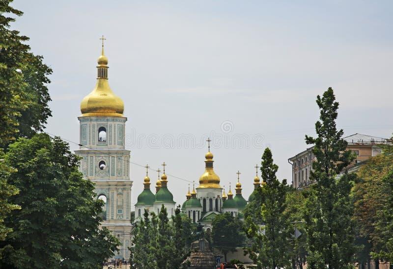 Catedral del santo Sophia en Kiev ucrania fotografía de archivo libre de regalías