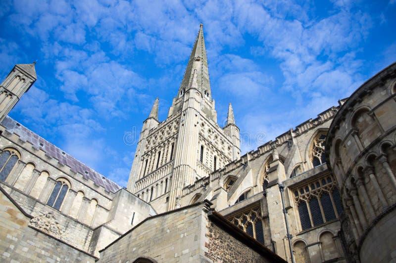 Catedral del siglo XII de Norwich fotografía de archivo libre de regalías