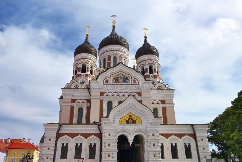 Catedral del St Aleksander Nevskyen Tallinn fotografía de archivo
