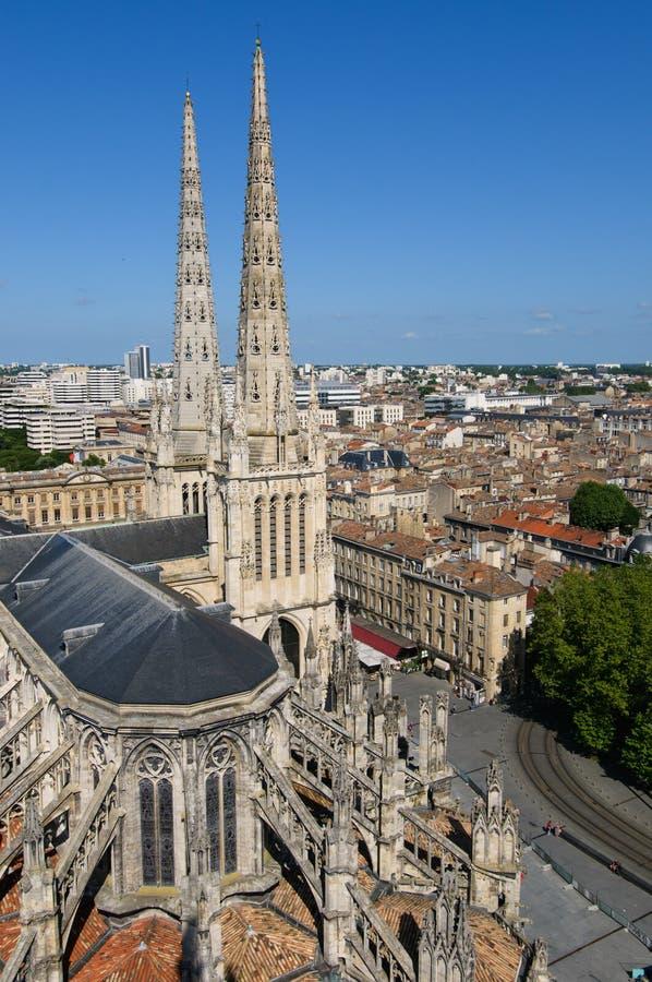 Catedral del St. Andrew, Burdeos, Francia fotografía de archivo libre de regalías