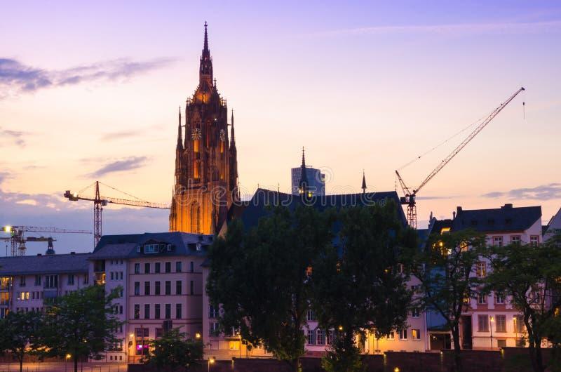 Catedral del St Bartholomaeus Dom en Frankfurt-am-Main, Alemania fotos de archivo libres de regalías
