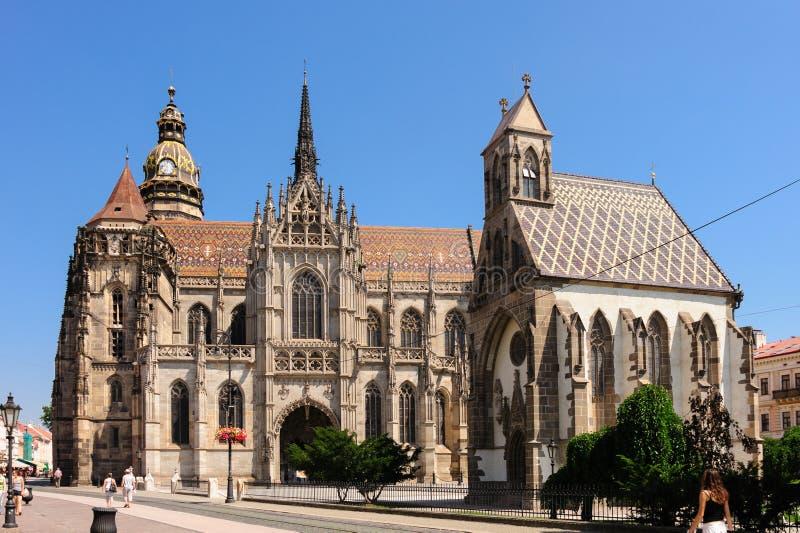 Catedral del St Elisabeth y capilla de San Miguel imagen de archivo libre de regalías