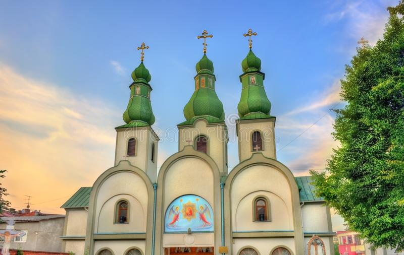Catedral del Theotokos de Pochayiv en Mukacheve, Ucrania fotografía de archivo