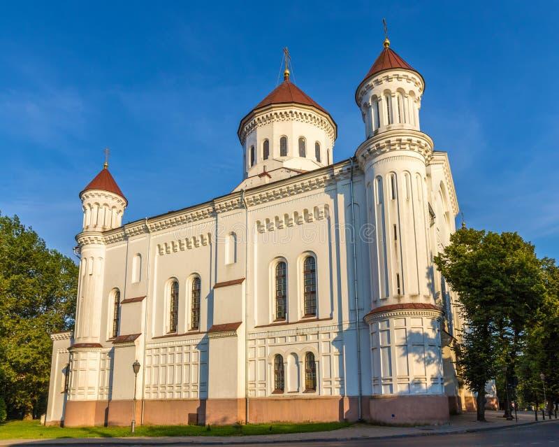 Catedral del Theotokos en Vilna imagen de archivo