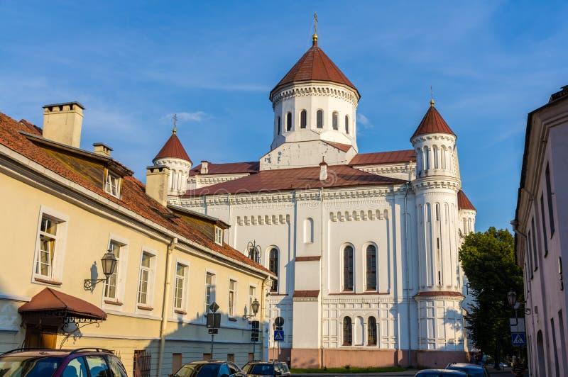 Catedral del Theotokos en Vilna imagenes de archivo
