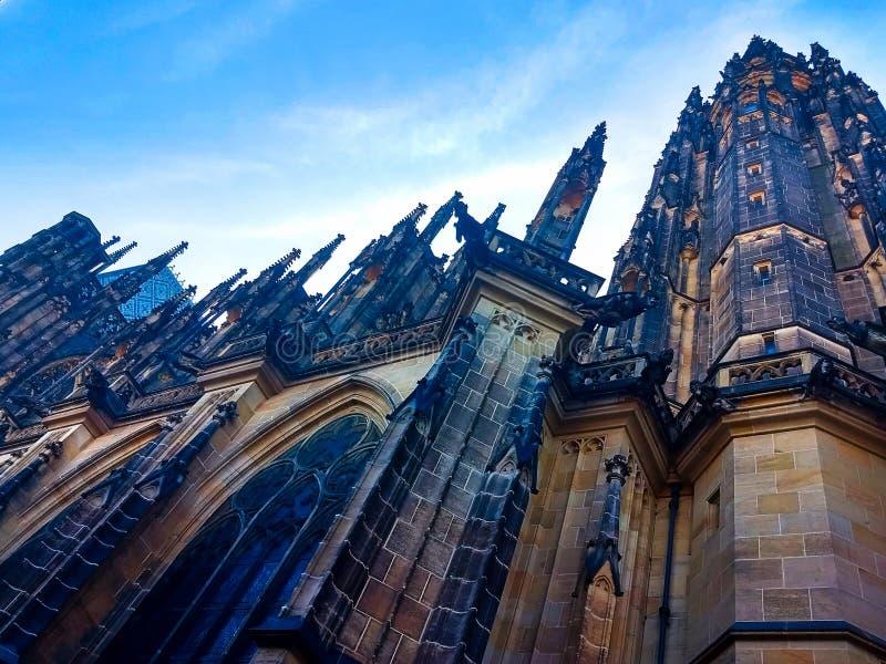 Catedral del vitus del St en la Rep?blica Checa de Praga foto de archivo libre de regalías