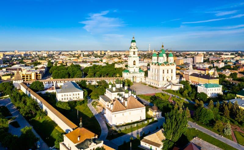 Catedral dentro do Kremlin, Rússia de Astracã fotografia de stock royalty free