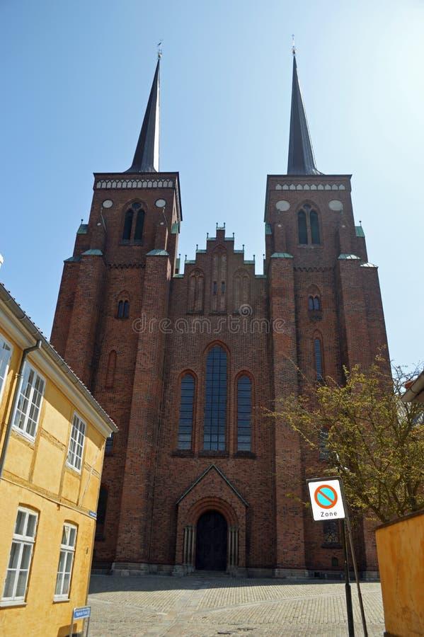 Catedral Dinamarca de Roskilde imagen de archivo libre de regalías