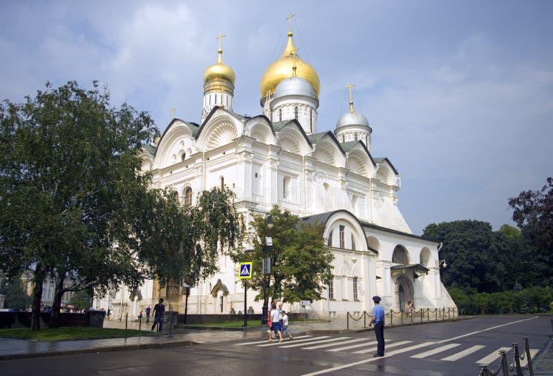 Catedral do arcanjo do Kremlin de Moscou imagem de stock