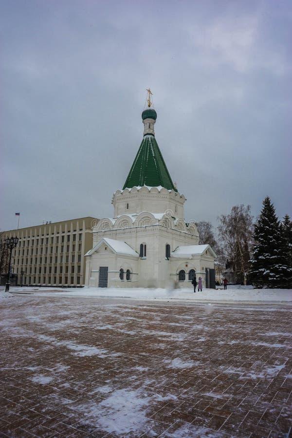 Catedral do arcanjo Michael no Kremlin de Nizhny Novgorod imagem de stock royalty free