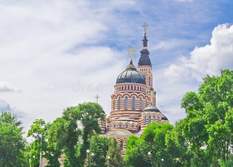 Catedral do aviso em Kharkov foto de stock royalty free